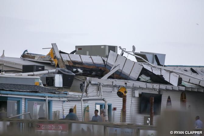 Microburst Damaged Cocoa Beach Pier 8 3 17